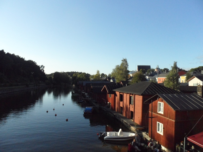 Red wooden houses Porvoo